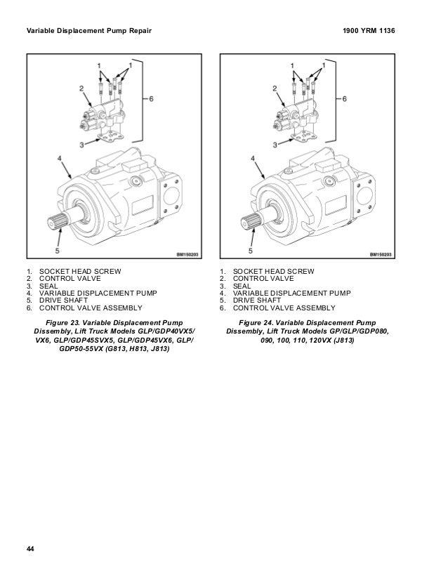 YALE F813 GLP40VX5 LIFT TRUCK Service Repair Manual