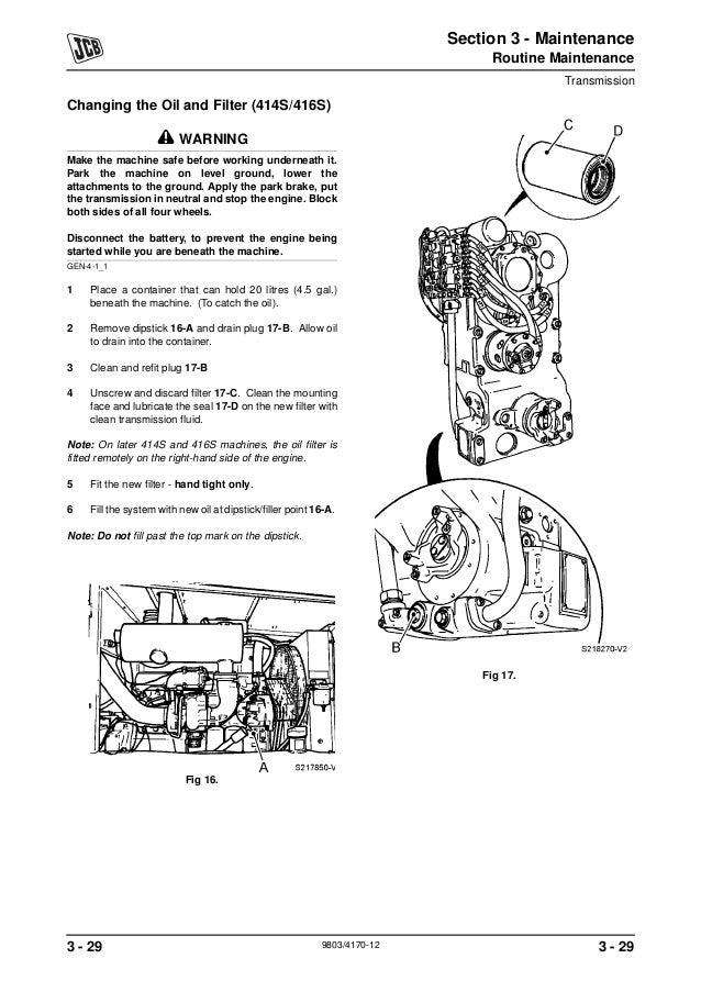 JCB 412S WHEELED LOADER Service Repair ManualSN:535500