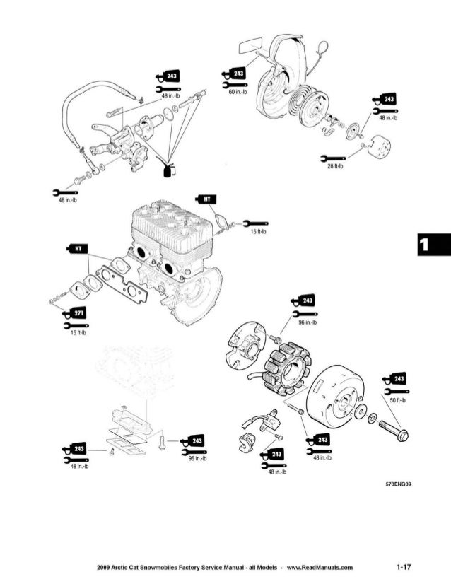 2009 Arctic Cat F5 Snowmobiles Service Repair Manual