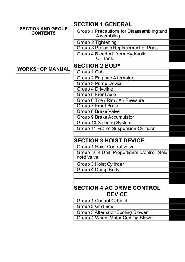 HITACHI EH 3500ACⅡ RIGID DUMP TRUCK Service Repair Manual