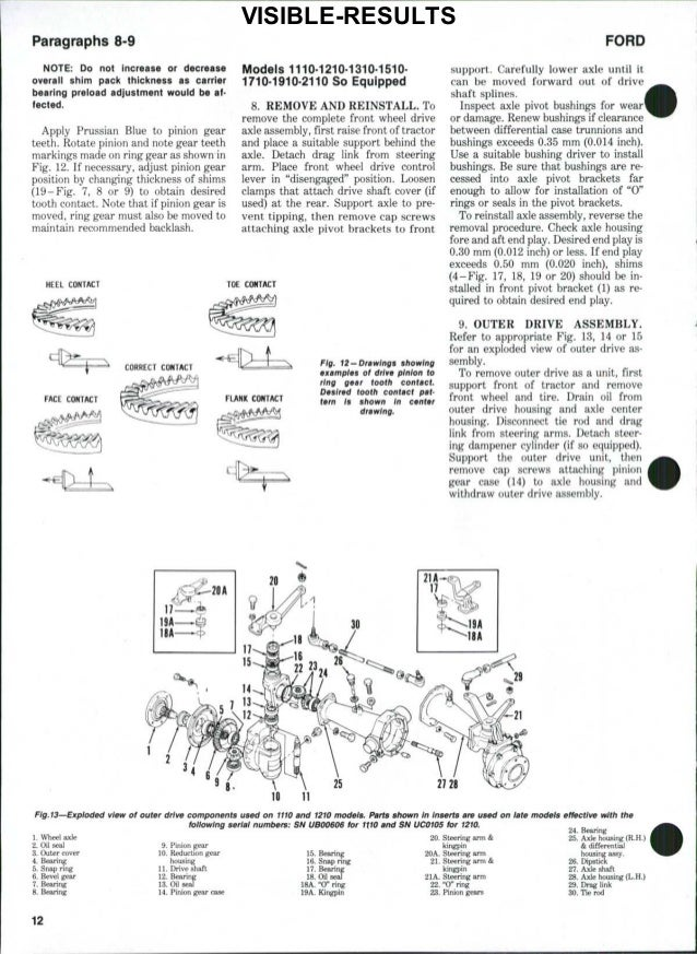 Ford 1300 Tractor Service Repair Manual