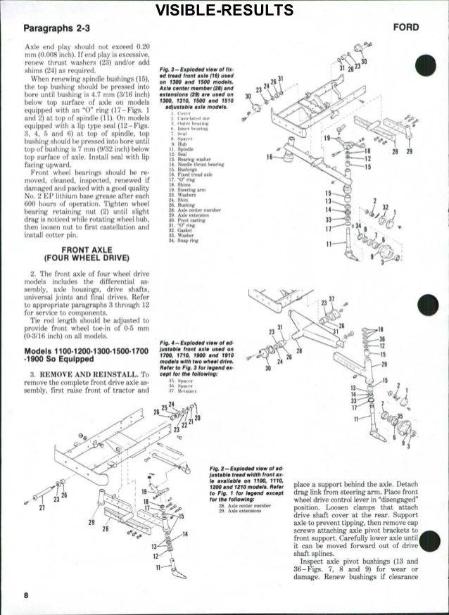 Ford 1300 Tractor Service Repair Manual