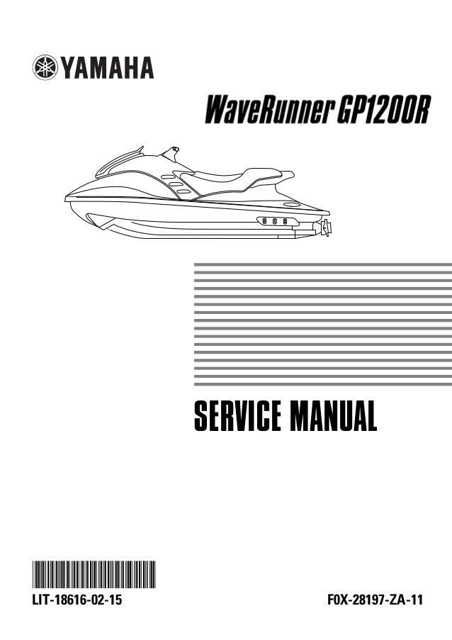 2000 yamaha gp1200r waverunner service repair manual rh slideshare net yamaha gp1200 service manual free yamaha gp 1200 service manual