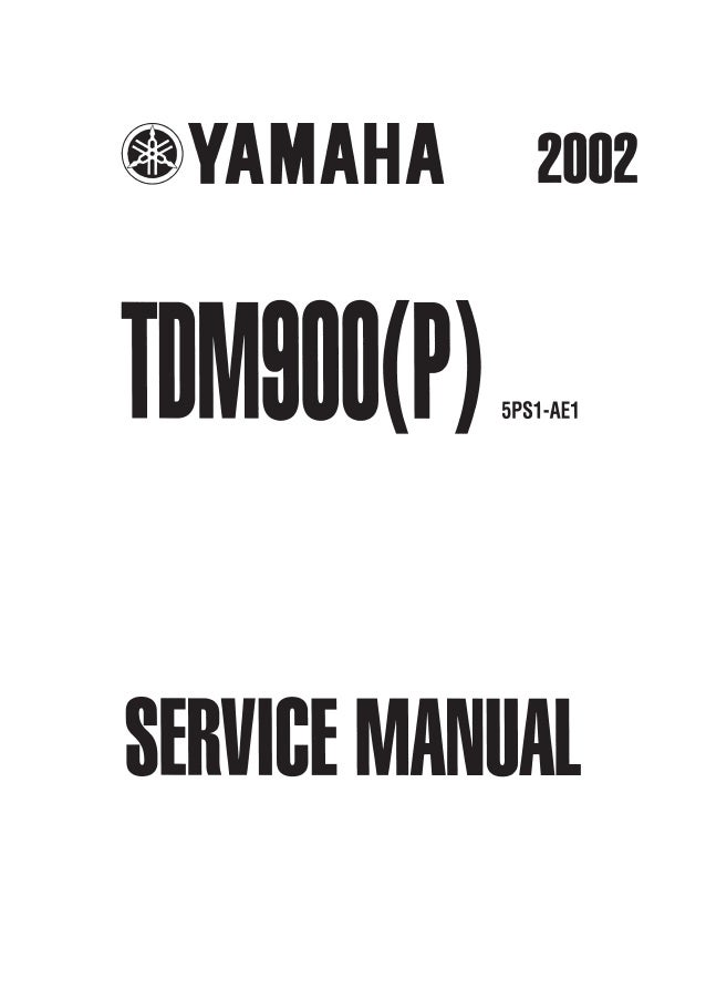 2003 Yamaha TDM900(R) Service Repair Manual
