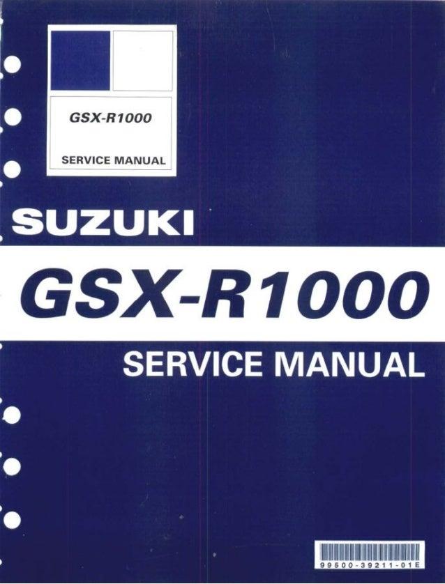 2001 2002 SUZUKI GSX-R1000 Service Manual