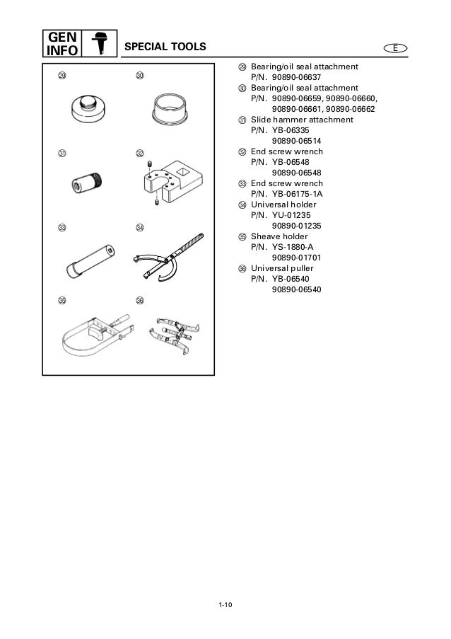 YAMAHA OUTBOARD Z200NETO, Z200TR Service Repair Manual X