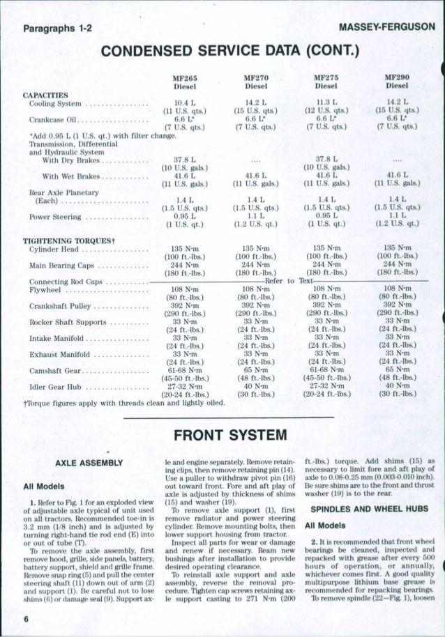 massey ferguson 255 service manual free download