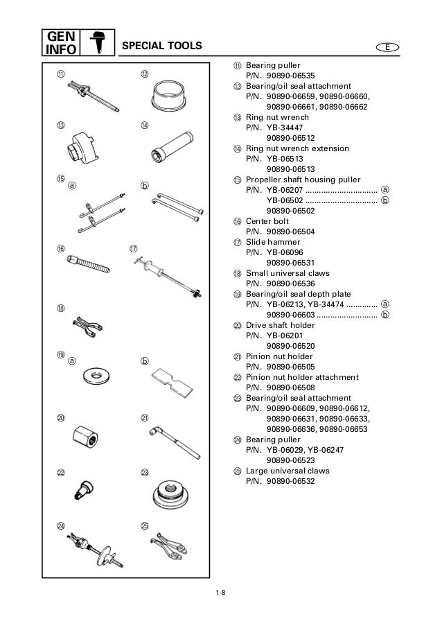YAMAHA 150FETO, S150TR OUTBOARD Service Repair Manual X