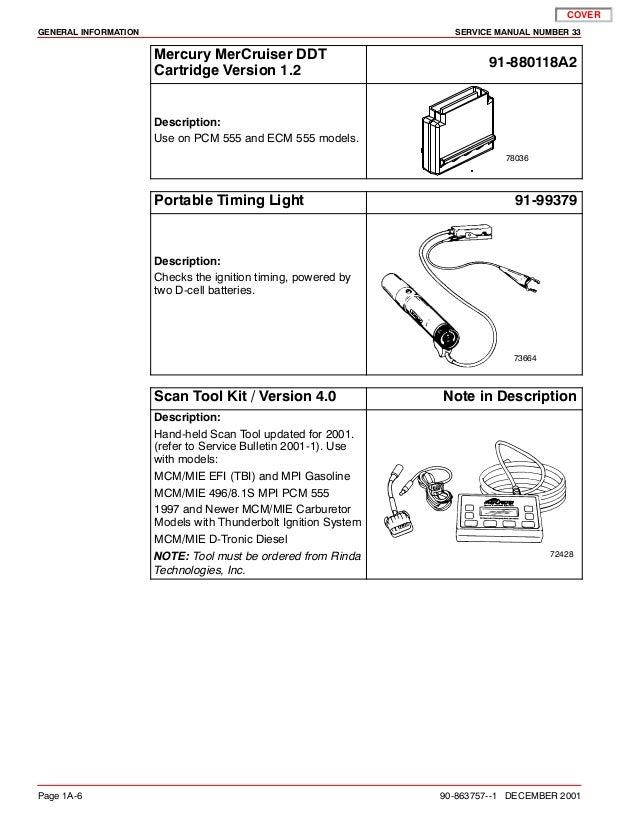 MERCURY MERCRUISER 496 MAG HO DIAGNOSTICS Service Repair