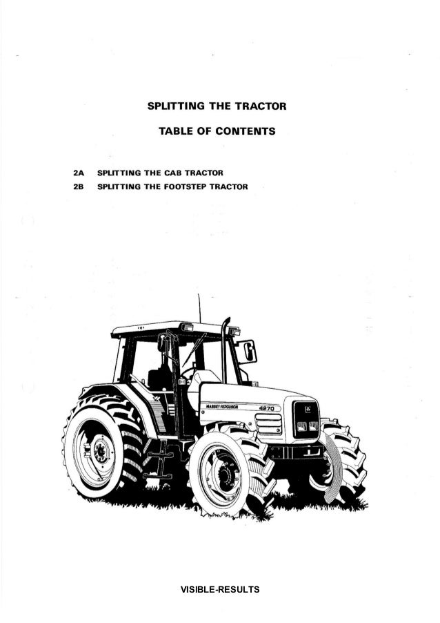 Massey Ferguson MF 4215 Tractor Service Repair Manual