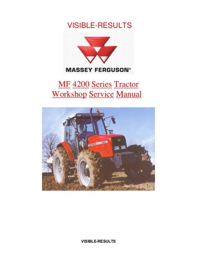IT Shop Massey Ferguson 240 Tractor Service Manual Patio, Lawn ...