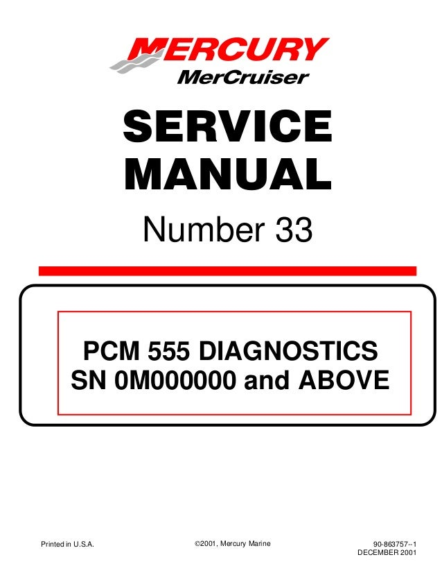 MERCURY MERCRUISER 496 MAG HO DIAGNOSTICS Service Repair