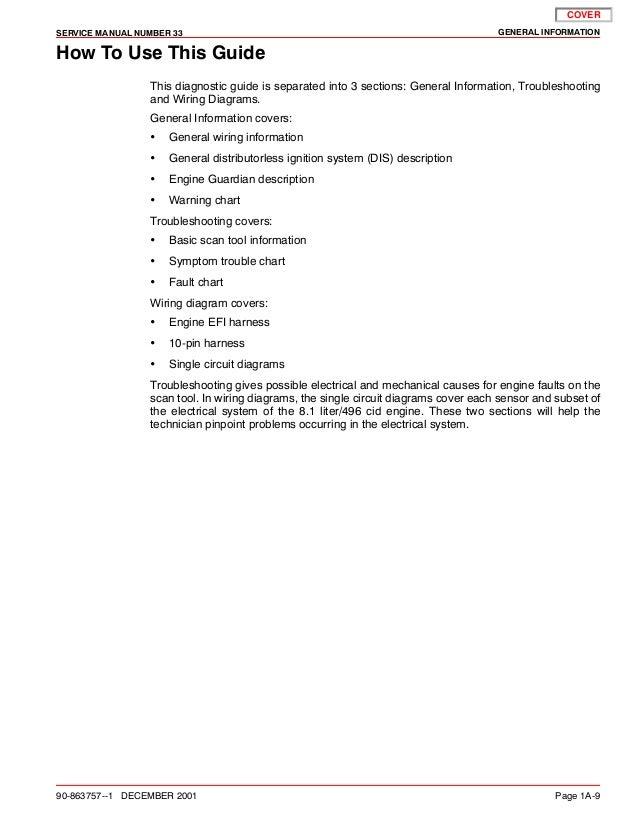 Mercury Mercruiser 496 Mag Ho Diagnostics Service Repair Manual Sn 0m U2026
