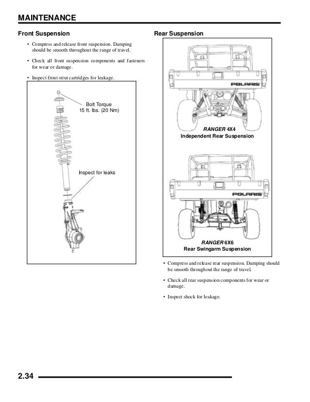 Polaris Ranger 700 Efi Service Manual