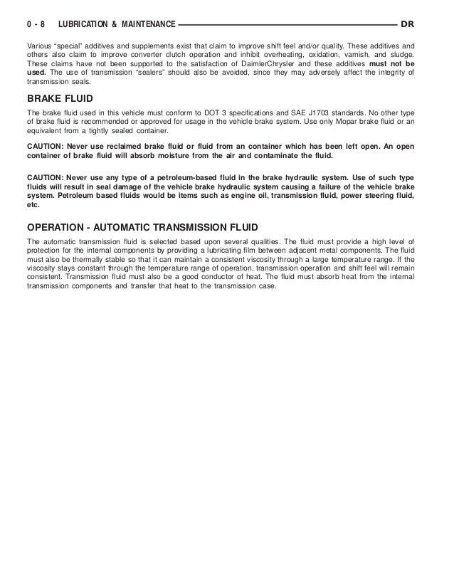 2006 DODGE RAM TRUCK Service Repair Manual