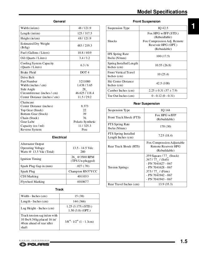 2007 POLARIS 700 HO IQ DRAGON SNOWMOBILE Service Repair Manual