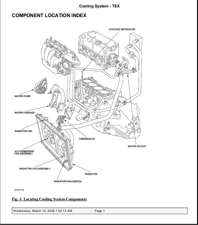2004 ACURA TSX Service Repair Manual   Tsx Engine Compartment Diagram      SlideShare