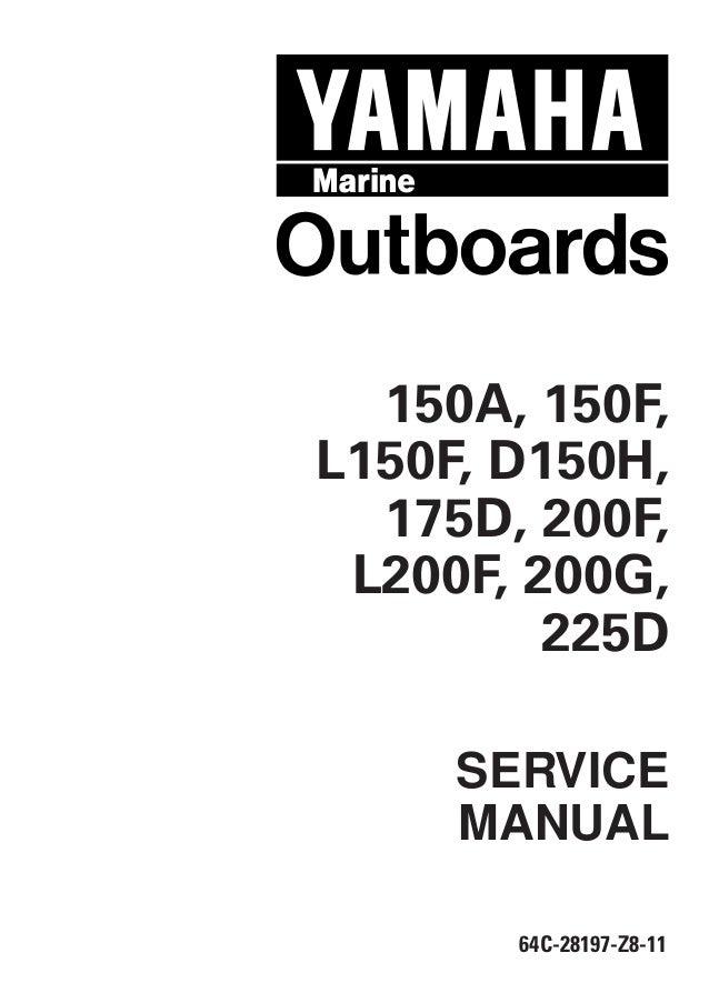 YAMAHA 175DETO, S175TR OUTBOARD Service Repair Manual X