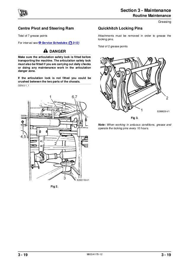 JCB 416S WHEELED LOADER Service Repair Manual SN:543000