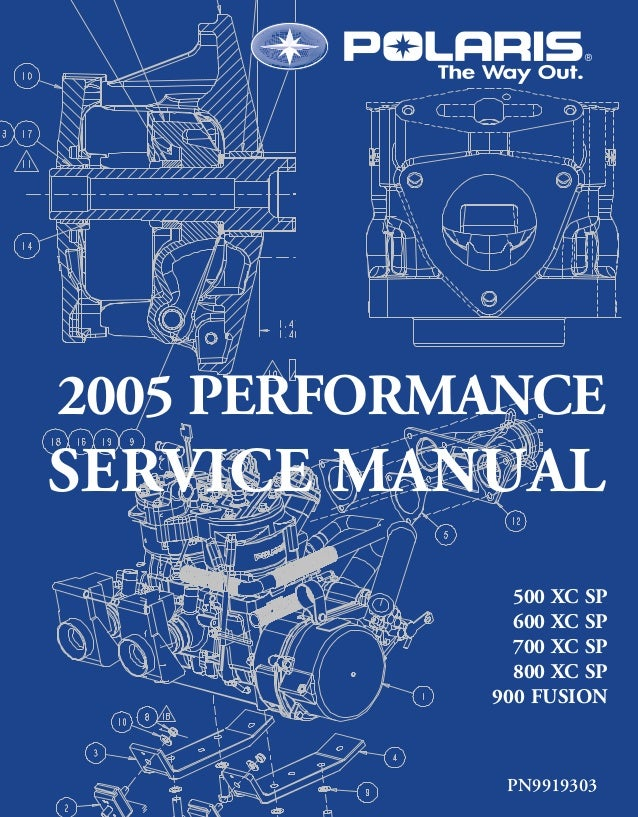 2005 Polaris 500 XC SP Edge SNOWMOBILE Service Repair Manual