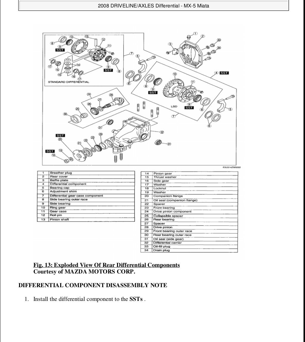 2006 Mazda Miata Mx5 Service Repair Manual