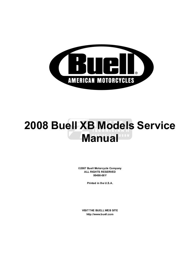 2008 Buell Lightning XB12X Ulysses Service Repair Manual