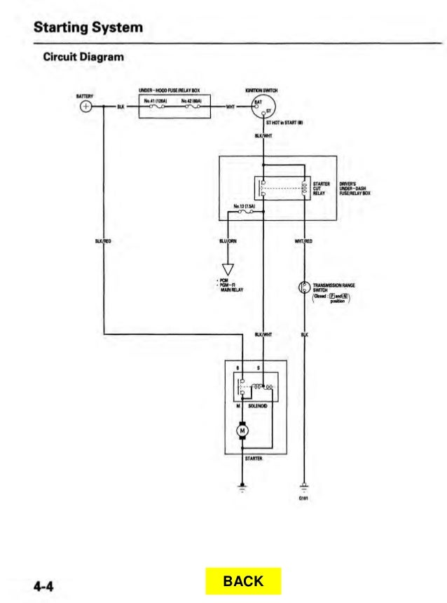11  starting system circuit diagram