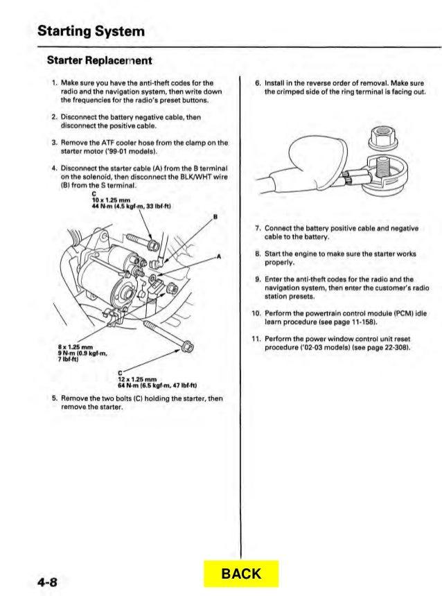 2002 ACURA TL Service Repair Manual on
