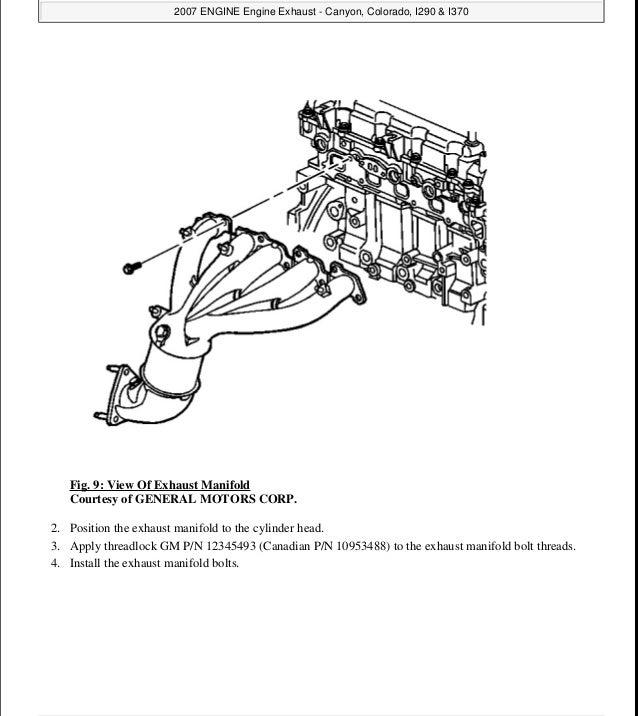 2007 GMC CANYON Service Repair Manual