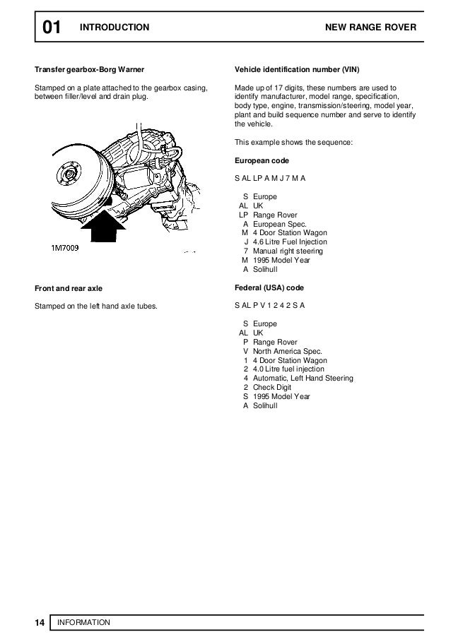 1993 Land Rover Range Rover Classic Service Repair Manual