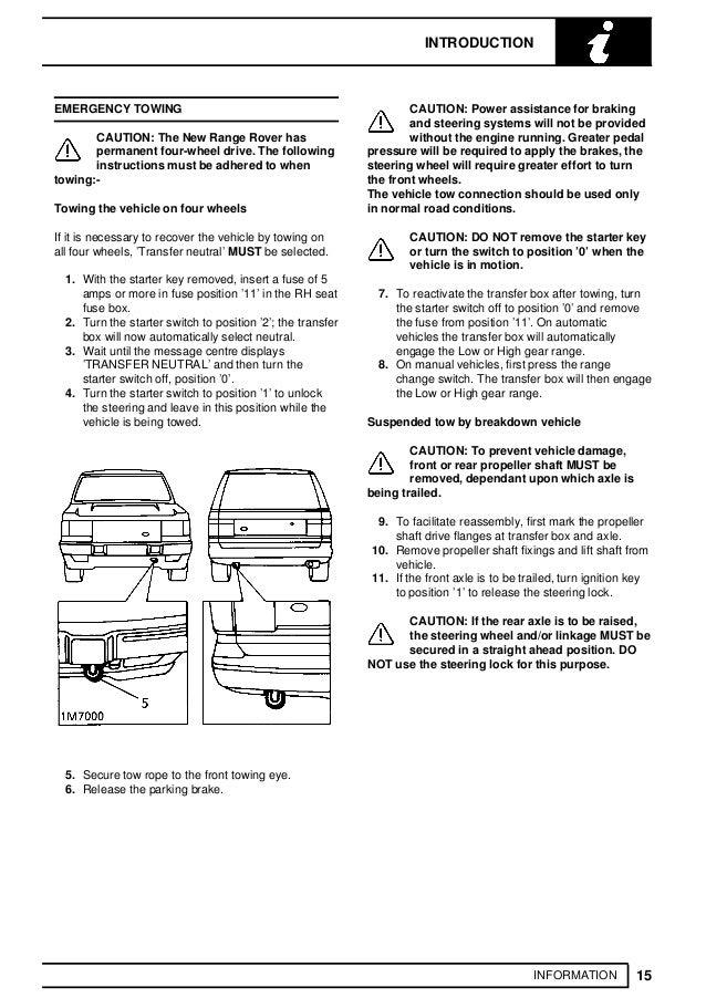 1993 LAND ROVER RANGE ROVER CLASSIC Service Repair Manual