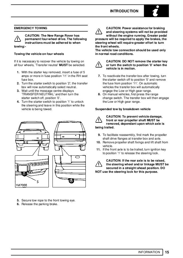 1994 Land Rover Range Rover Classic Service Repair Manual