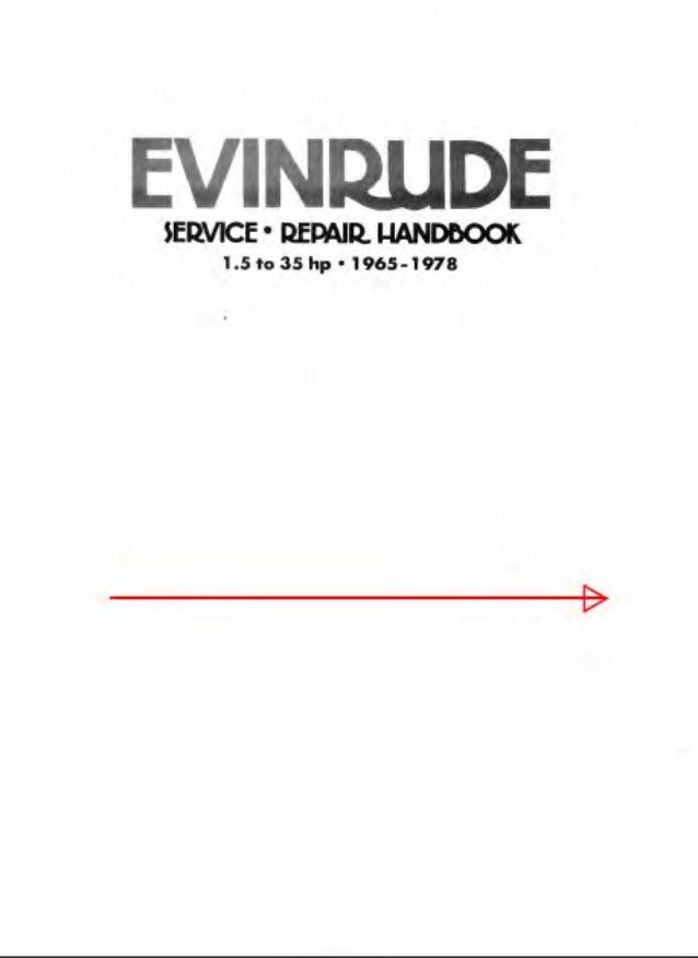 1975 JOHNSON EVINRUDE OUTBOARD 15 Hp Service Repair Manual