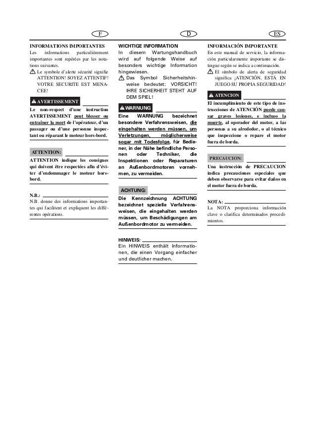 YAMAHA OUTBOARD 30DMO Service Repair Manual S: 251193