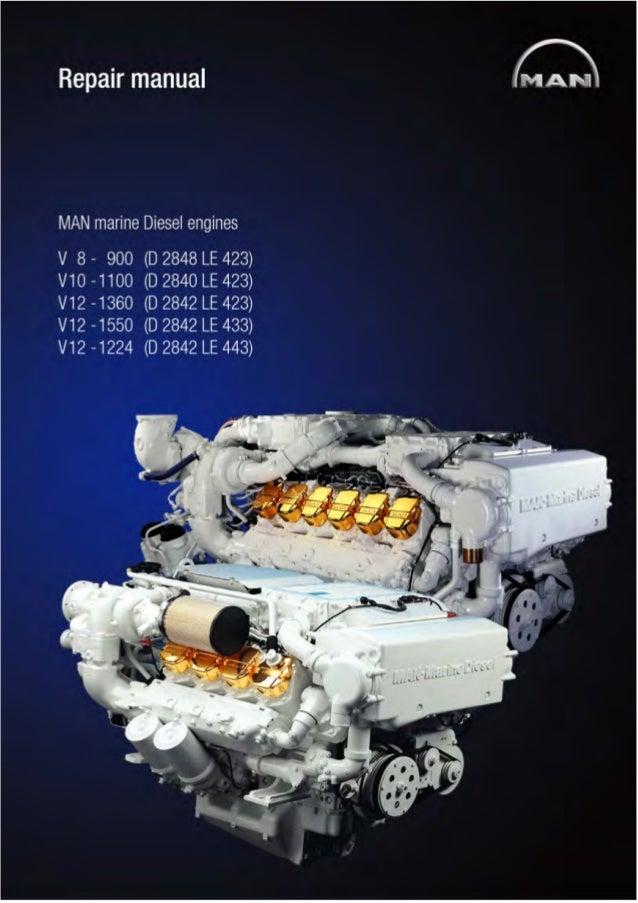 man marine diesel engine v10 1100 d 2840 le 423 service repair manu rh slideshare net Engine Overhaul Manual Diesel Engine Overhauling Procedure