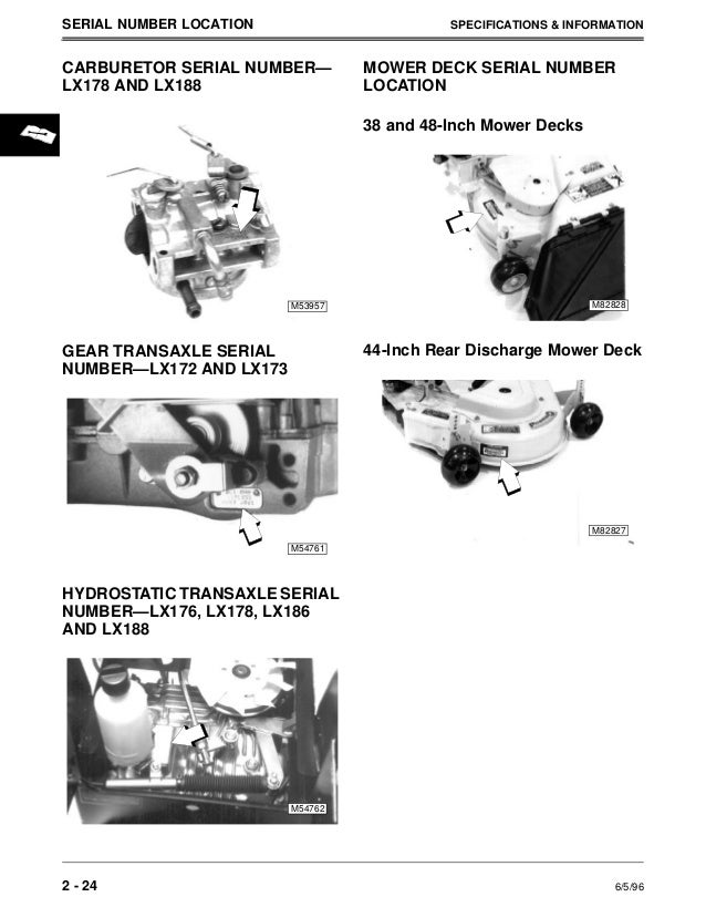 john deere lx176 lawn garden tractor service repair manual rh slideshare net john deere lx176 owners manual pdf john deere lx176 owners manual