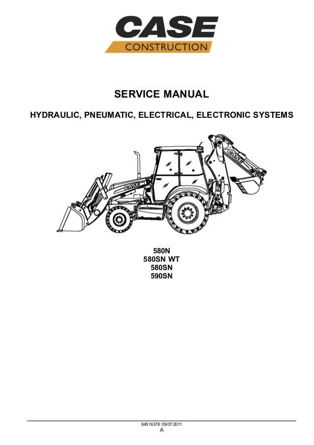 CASE 580SN-WT TRACTOR LOADER BACKHOE Service Repair Manual