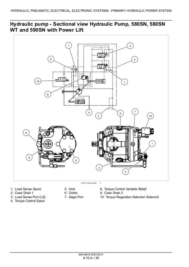 case backhoe hydraulic pump schematics