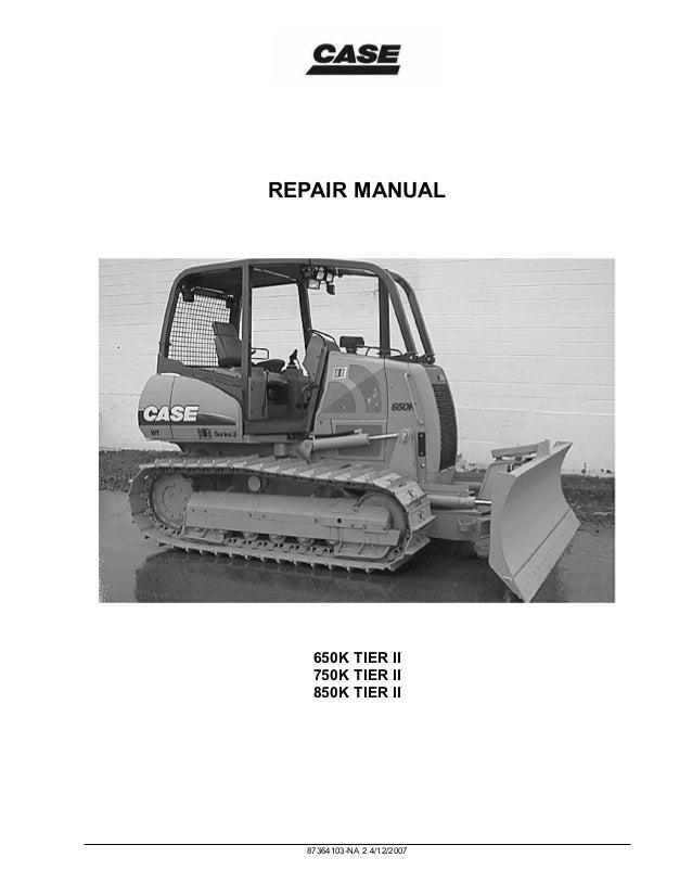 case 650k tier ii dozer service repair manual rh slideshare net Case 850 Dozer Weight 850 Case Dozer Parts Diagram