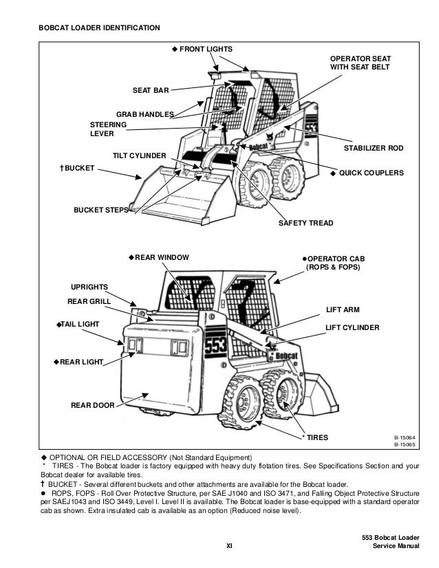 BOBCAT 553 SKID STEER LOADER Service Repair Manual SN