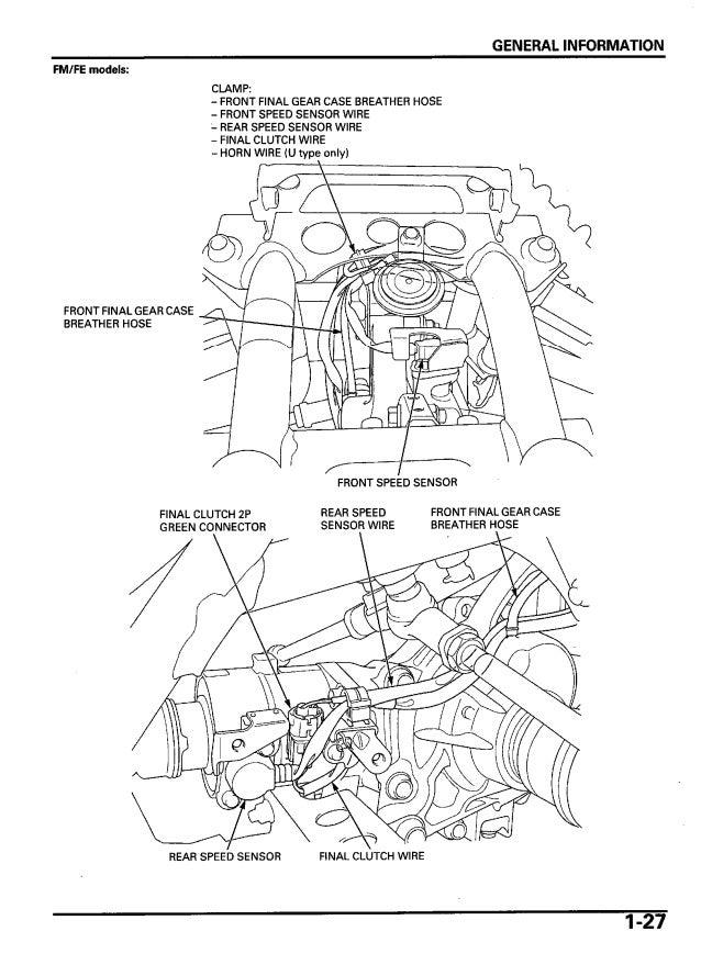 2006 Honda TRX500FM FourTrax Foreman Service Repair Manual