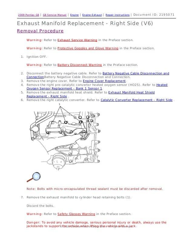 2008 pontiac g8 service repair manual rh slideshare net Pontiac G8 Pricing pontiac g8 owner's manual