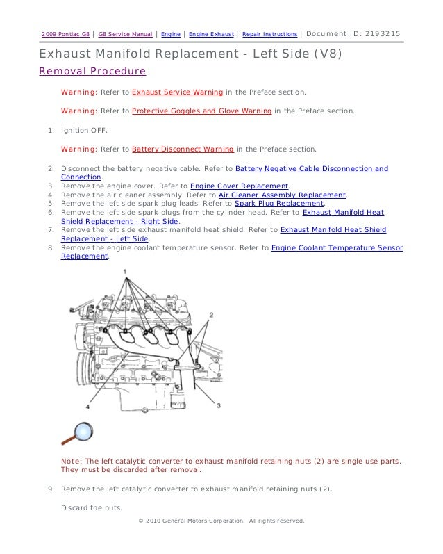2008 pontiac g8 service repair manual rh slideshare net pontiac g8 maintenance manual Pontiac G8 Firehawk
