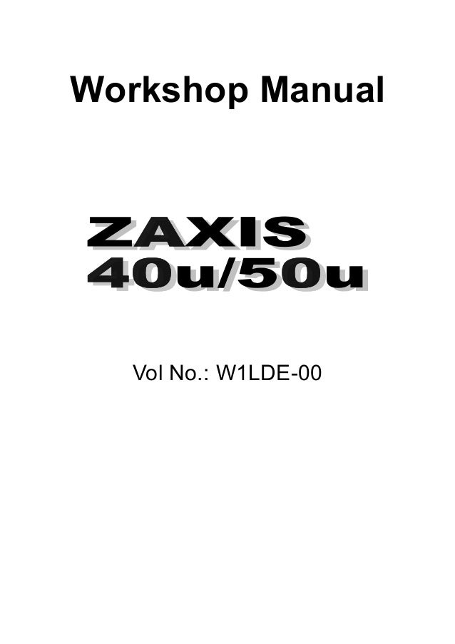 HITACHI ZAXIS 40U EXCAVATOR Service Repair Manual