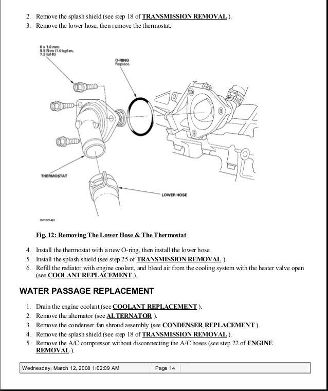 2005 ACURA TSX Service Repair Manual | Tsx Engine Hose Diagram |  | SlideShare