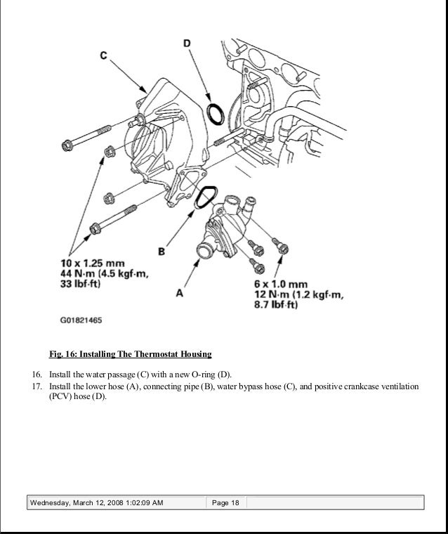 2004 Acura Tsx Cooling Diagram