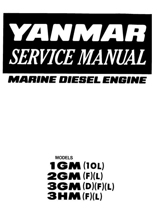 Yanmar 3GMD Marine Diesel Engine Service Repair Manual
