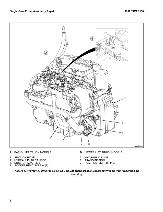 Yale F818 Gc Glc120vx Lift Truck Service Repair Manual