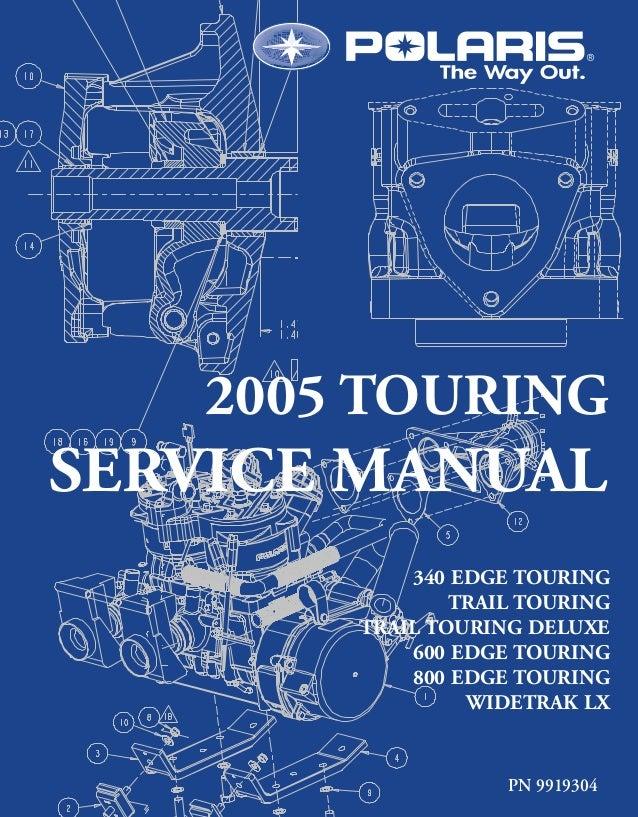 2005 Polaris Trail Touring Euro Snowmobile Service Repair Manual