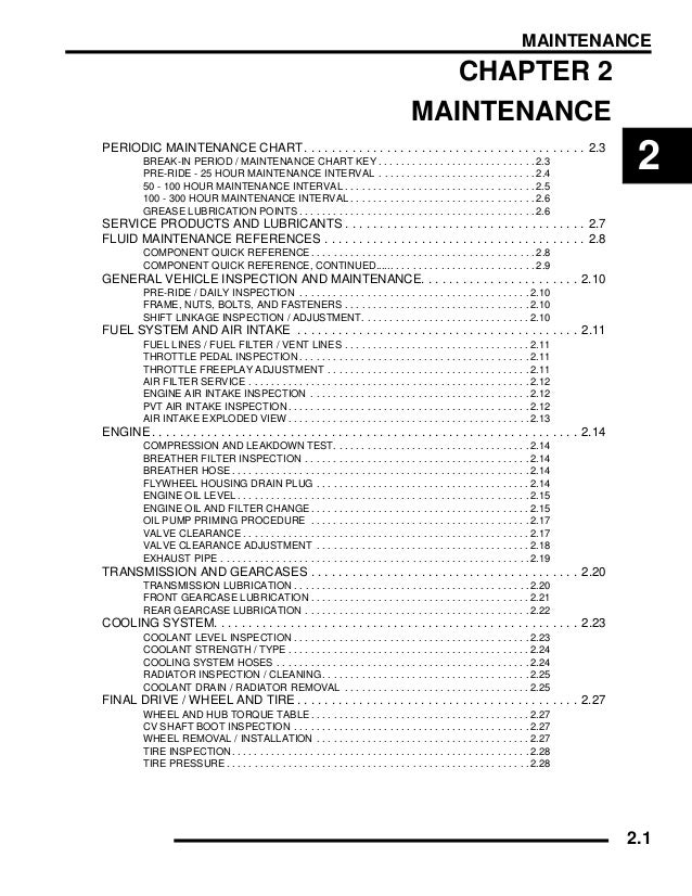 2009 POLARIS RANGER 4X4 500 EFI Service Repair Manual